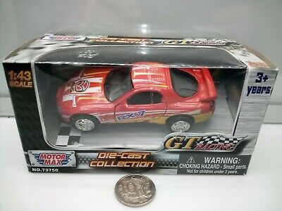 Motor Max GT Racing 1:43 Scale -  Mazda RX7 FD - Red - Model Car