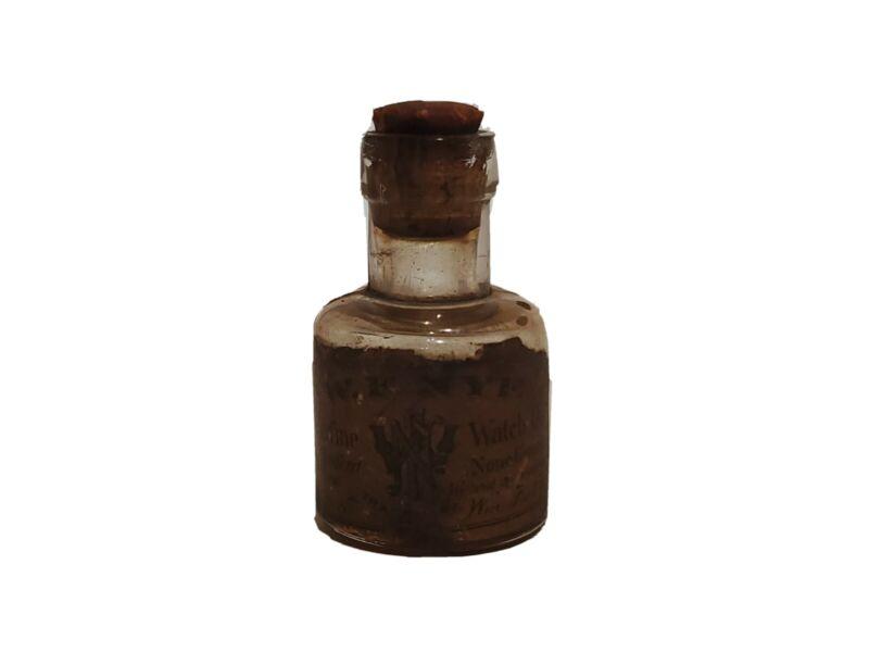 "ANTIQUE W.F. Nye Inc. Pure WATCH Oil New Bedford, MA USA Genuine 2"" Cork Stopper"