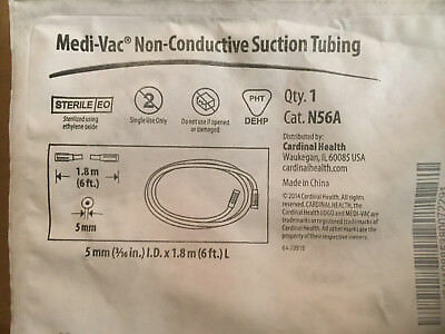5 Pkg Cardinal Health Medi-vac Non-conductive Suction Tube N56a New Medical