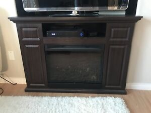 TV stand with electric fire place