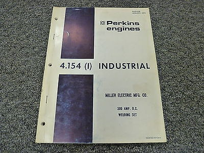 Perkins 4.154 Industrial Engine Parts Catalog Manual Book