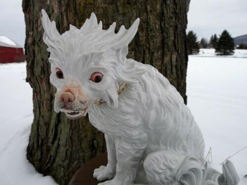 "CARL THIEME DRESDEN, Germany - 11.25"" White German Porcelain BOLOGNESE DOG"