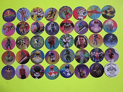 1995 Mighty Morphin Power Rangers Set W 5 Bonus Pogs