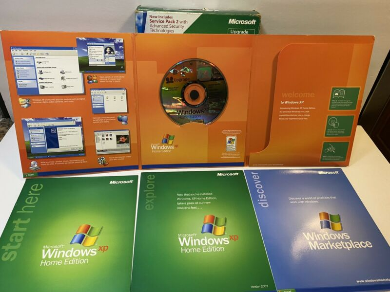 Windows XP Home Edition with Service Pack 2 for PC Retail Box