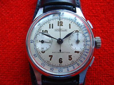 Vintage Old Swiss Made Wrist-Watch Chronogtaph ANGELUS