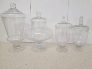 Glass lolly jars perfect for grazing table or weddings