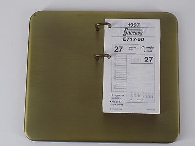 At-a-glance Desk Calendar Base For 4 12 X 7 38 Robust Antiqued Brass Finish