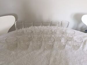 3 x Set of 6 drinking glasses (missing one scotch glass) $15 Woolloomooloo Inner Sydney Preview