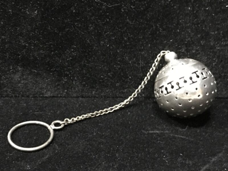 Vintage Sterling Tea Ball infuser on Chain