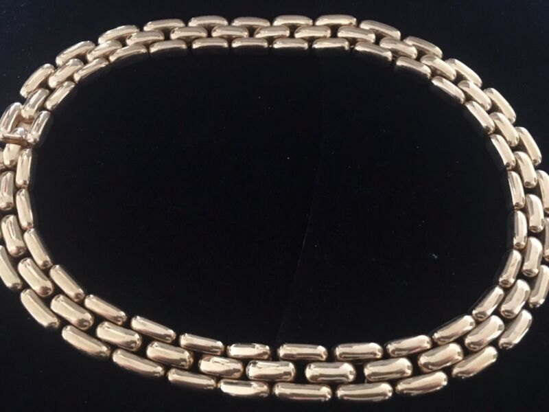 Ciner Vintage Gold Tone Choker Necklace