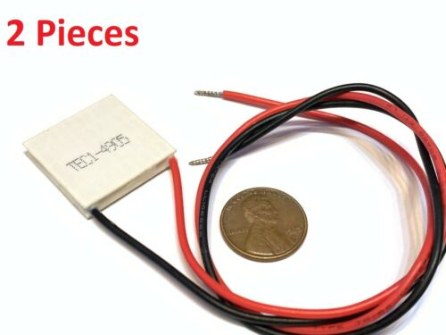 2 x TEC1-04905 5V Thermoelectric Cooler Cooling Peltier Plate Module 25x25mm B28