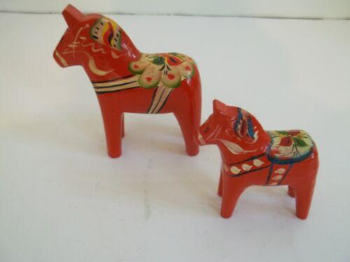 Akta Dalahemslojd Orange Swedish Horse Set 2