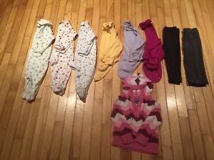 Girls 24 month lot (sleepers, long sleeve onsies and pants)