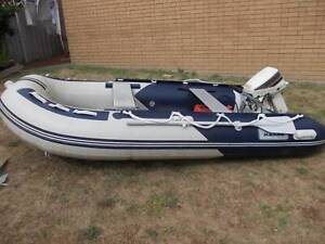 3.3 meter Inflatable Boat / Dinghy with 15 HP outboard