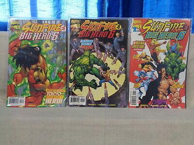 Sunfire & Big Hero 6 1-3 COMPLETE SET! 1998 Marvel Comics (b 21653) ()