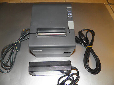 Epson Tm-t88iv Thermal Point Of Sale Receipt Printer Power Supply Usb
