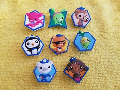 OCTONAUTS shoe charms/cake toppers!! Set of 8!! FAST FREE USA SHIPPING! (Octonauts Shoes)