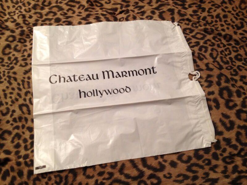 large CHATEAU MARMONT plastic drawstring laundry BAG hotel California HOLLYWOOD