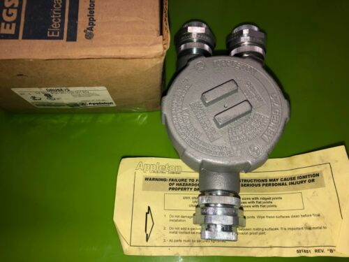 "Appleton GRUSE75 Universal Conduit Outlet Box 3/4"" Hubs"