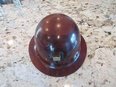 Vintage Msa Hard Hat Skullgard Mine Safety Cap Usa Full Brim - Safety Helmet