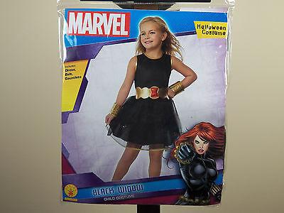 Marvel Black Widow Halloween Costume Girl's Size M Medium 8-10 Rubie's **NEW** - Black Widow Girl Costume