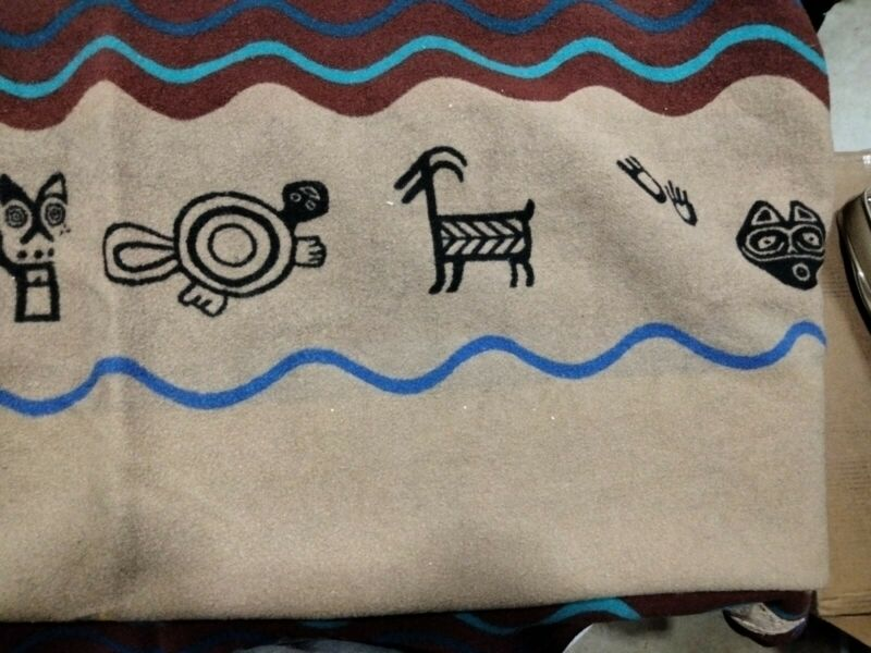 Pendleton Beaver State Wool Blanket Southwest Native American Spirit Quest 58x72