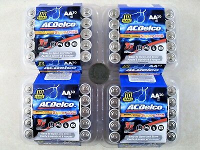 120 AC Delco AA Super Alkaline Batteries Best by 2028 Fast Free Priority Ship