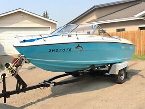 Water Ready 18.5' Rienell Boat With 200 HP Evinrude. Ski or Fish