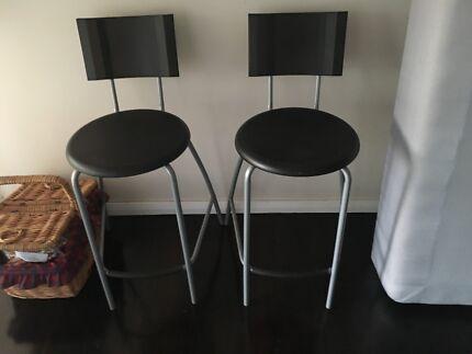 three ikea ingolf bar stools with backrest black stools bar