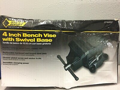 Steel Grip Dr76516 4 In. Forged Steel Bench Vise Swivel Base