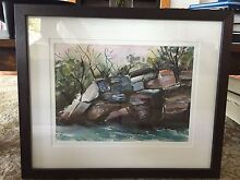 Australian landscape painting in water colours Northbridge Willoughby Area Preview