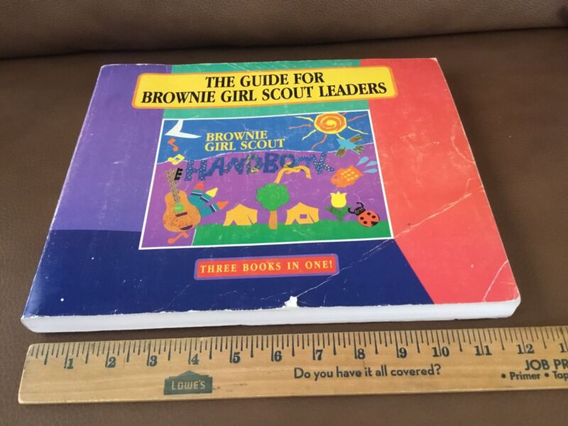 Vintage 1993 Guide For Brownie Girl Scout Leaders Handbook~ 3 in 1 Book ~Try Its