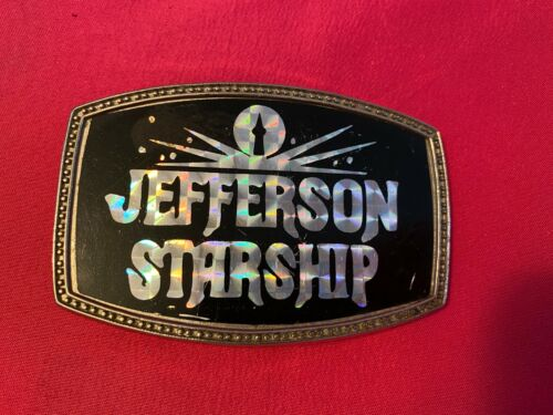 Vintage 70s Jefferson Starship Belt Buckle Rock Music