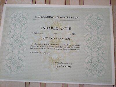 Schweiz  -  Sidi Holding AG, Winterthur   6/185