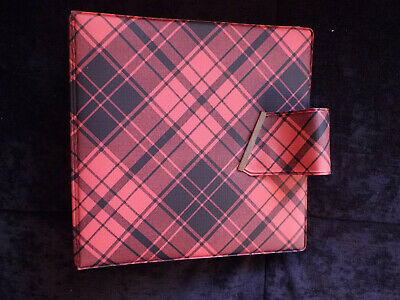 �r Singles aus Kunststoff  schwarz-rot kariert (Rot Karierte Platten)