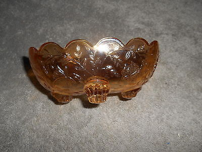 Westmoreland Carnival Glass Louisa Marigold Oval Footed  Dish