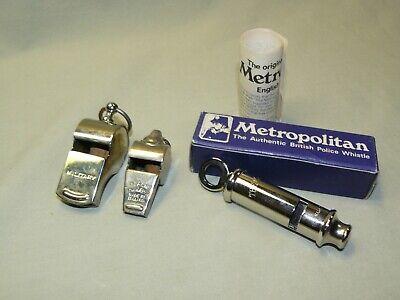 Lot of Three Vintage Whistles - Miltary, Acme Thunderer, British Police