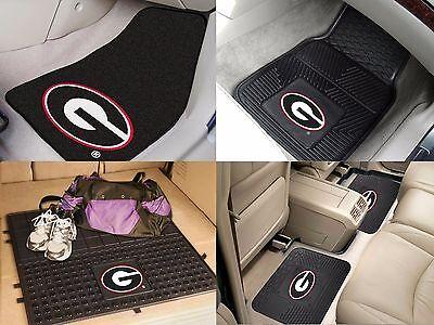 Georgia Bulldogs Cargo - Georgia Bulldogs NCAA Vinyl Carpet Rubber Car Truck Auto SUV Floor Cargo Mats