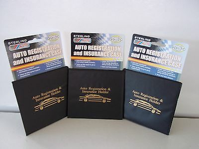 3 Auto Car Truck Registration And Insurance Case Document Holder Wallet Folder