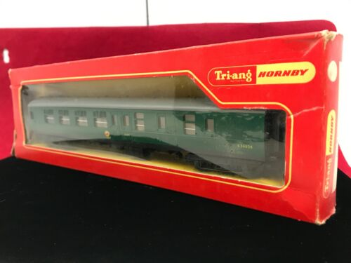 TRIANG HORNBY R623 BR SOUTHERN GREEN MK1 BRAKE 2nd COACH S34936
