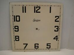 Vintage Metal Clock Face Sessions 14 in Square Grandfather Wall Clock Repair