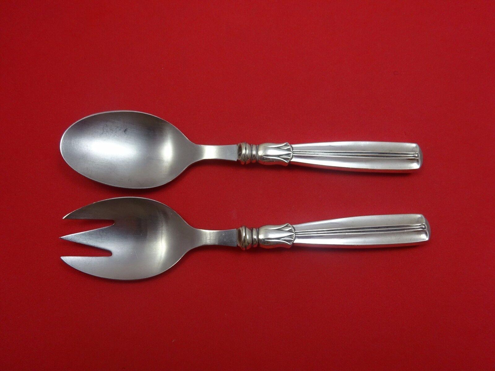 Silver Iris by International Sterling Silver Salad Serving Set 2pc HHWS  Custom