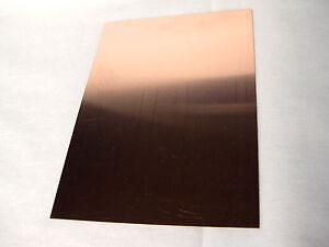 Kupferbleche Kupferplatte Kupferfolie Metallplatte Zuschnitt 130x180mm x 0,4mm