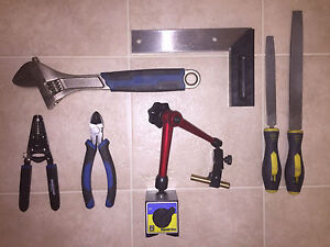 Set of different hand tools
