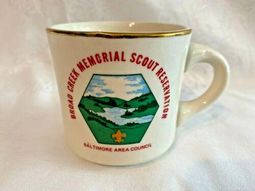 1971 Boy Scouts Baltimore Area Council BROAD CREEK Commemorative Coffee Cup Mug