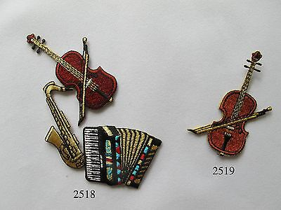 Violin,Organ,Saxophone,Musical Instruments Embroidery Iron On Applique Patch