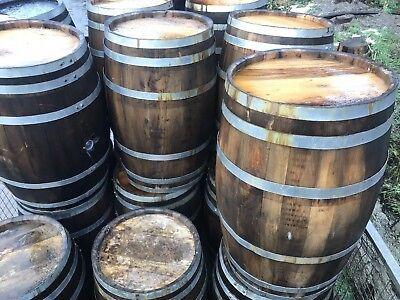 SOLID OAK WHISKEY BARREL 40 GALLON  Wooden Keg/Water Barrels/Pub Table.