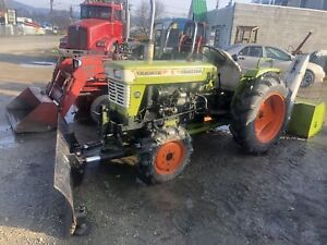 Yanmar 240D tractor with blade and snow blower