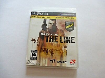 Sony Playstation PS3 SPEC OPS The Line Video Game 2K Games 2012