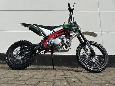 125ccm Dirtbike Cross Dirt bike Pocket Enduro Pitbike 125cc 17/14 Zoll Grün